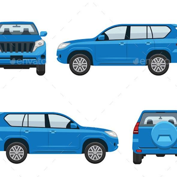 Car Isometric Set Illustration