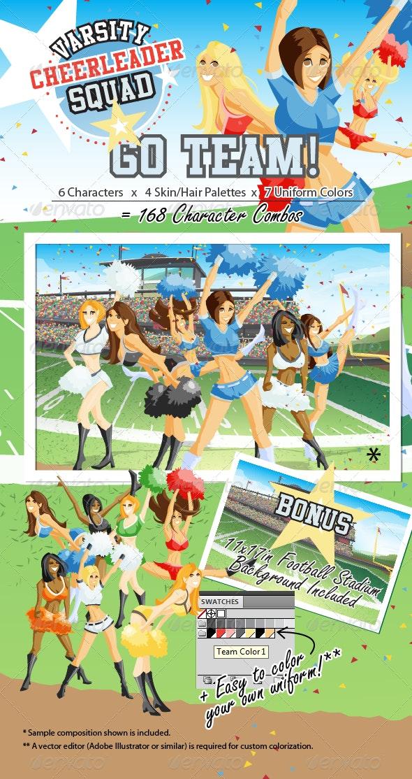 Varsity Cheerleader Squad - People Characters