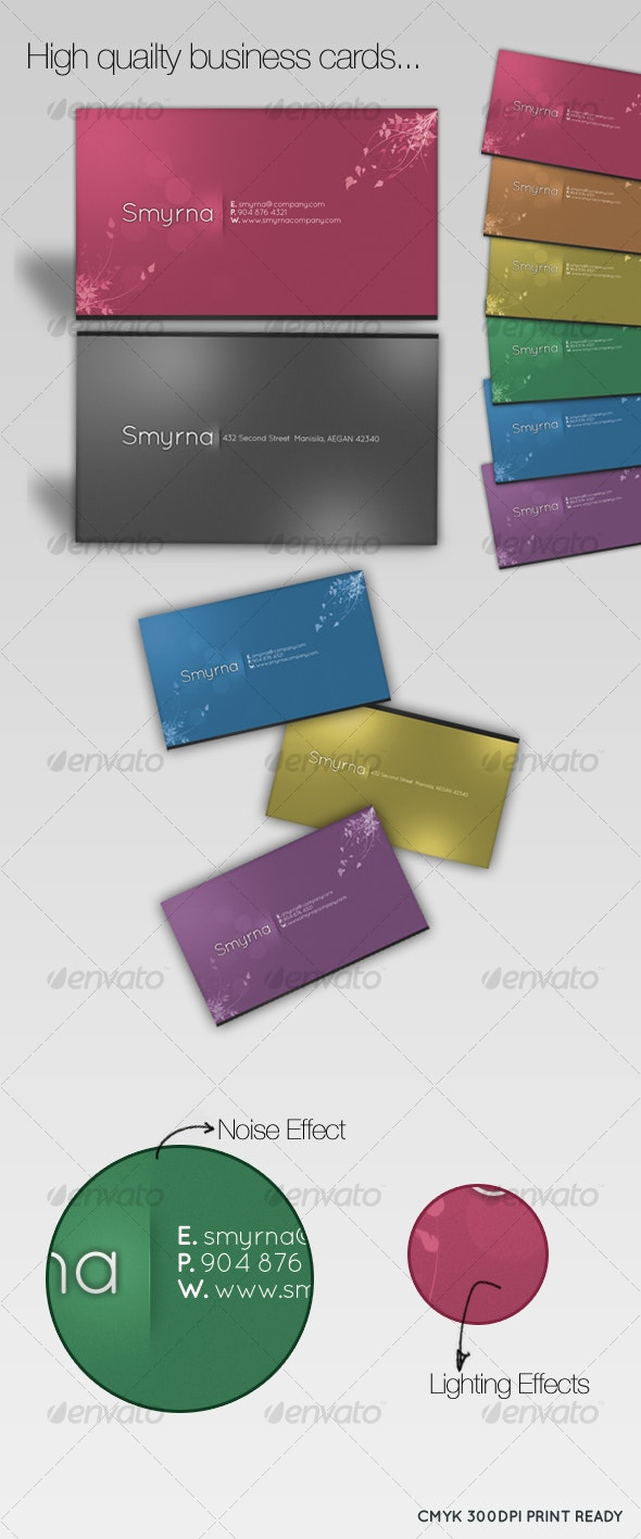 Elegancy Business Cards [6 colors] - Creative Business Cards