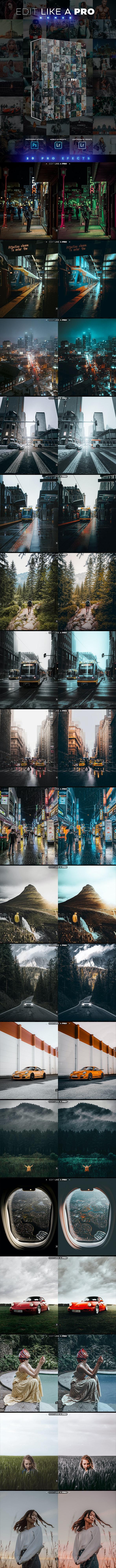 Edit Edit Like A Pro Serie II - Photoshop & Lightroom Effects - Lightroom Presets Add-ons