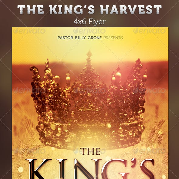 The King's Harvest: Church Flyer Template