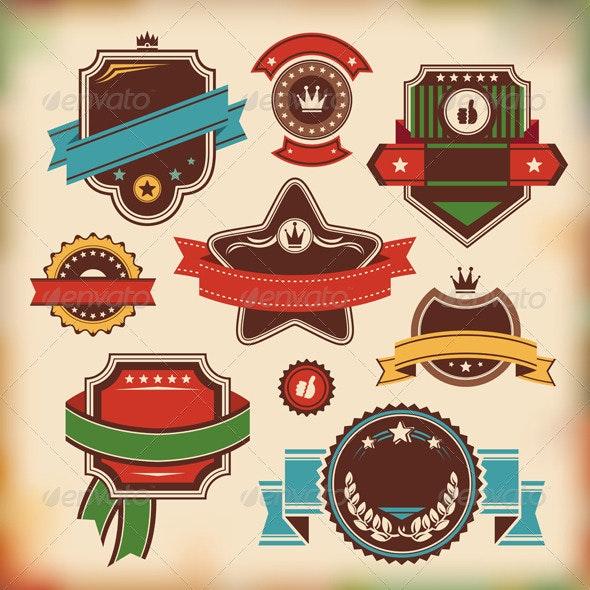 Set Of Vintage Labels - Borders Decorative