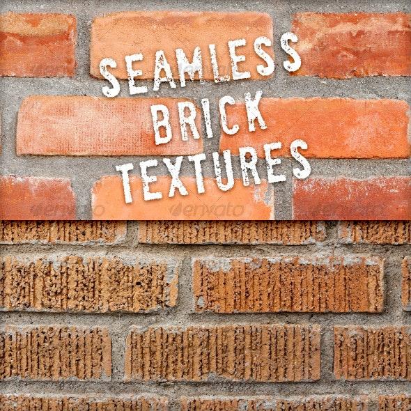 2 Seamless Brick Textures - Stone Textures