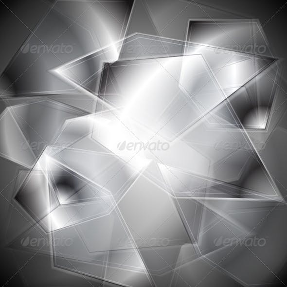 Glass splinters background