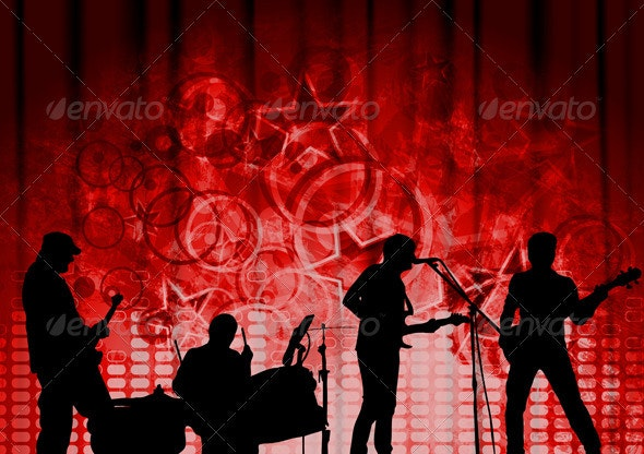 Red musical design - Backgrounds Decorative