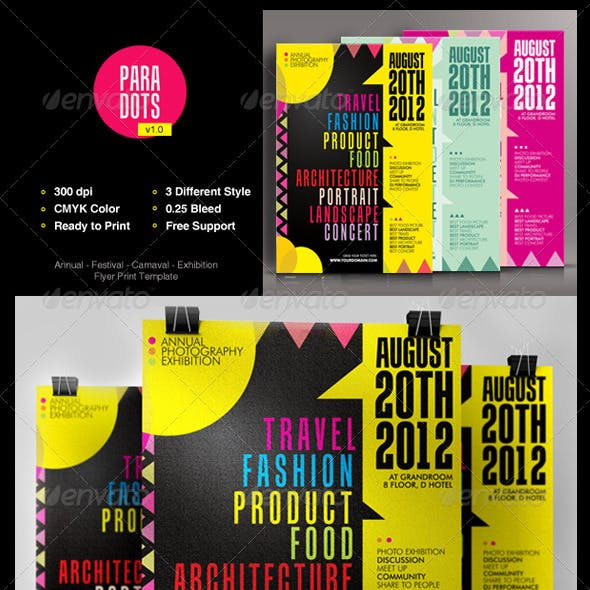 Annual Report and Design Flyer Templates from GraphicRiver