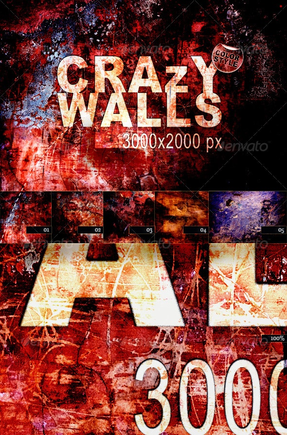 Crazy Walls – Color Style - Industrial / Grunge Textures