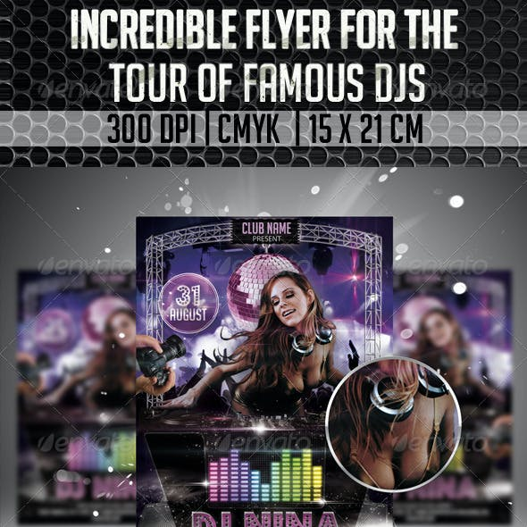 Incredible Flyer For The Tour Of Famous Dj's