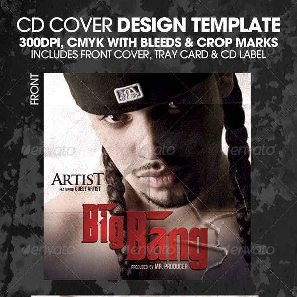 Big Bang Complete CD Template or Flyer