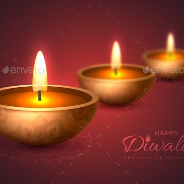 Diwali Diya  Oil Lamp