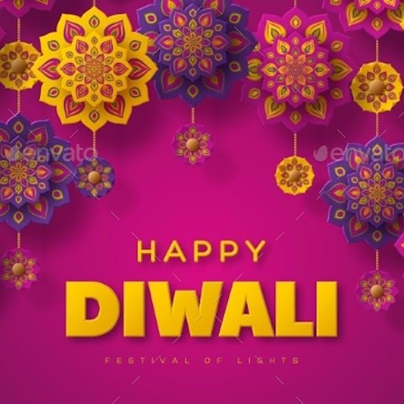 Diwali Festival Typographic Design