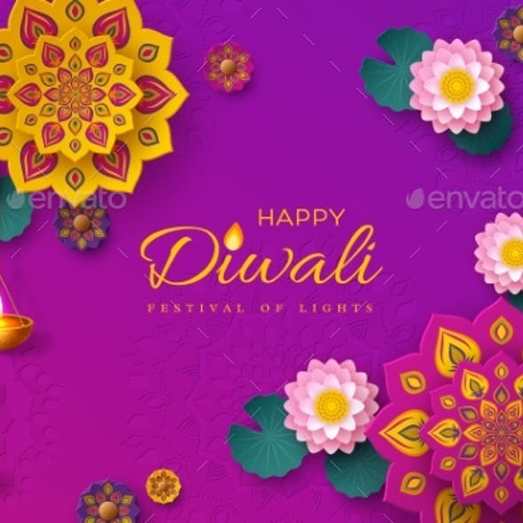Diwali Festival of Lights Holiday Banner