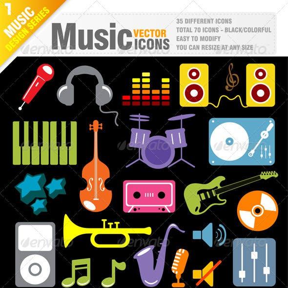 70 Music Icon Vector
