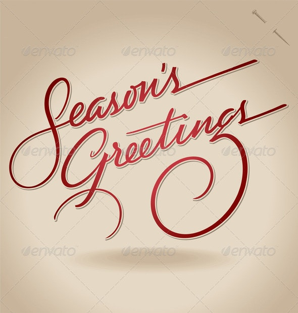 'Season's Greetings' Hand Lettering (vector) - Vectors