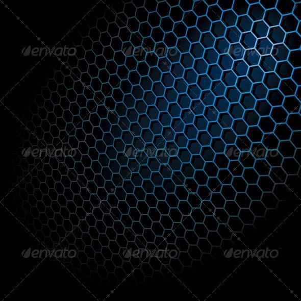 Hexagon Grid - Abstract Conceptual