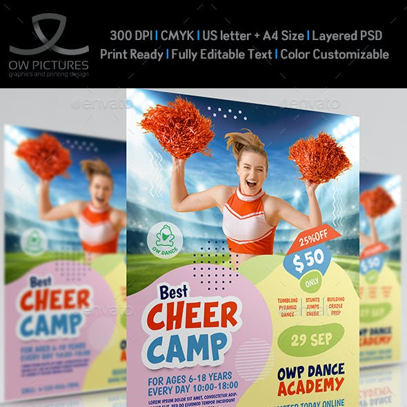 Cheer Camp Flyer Templates
