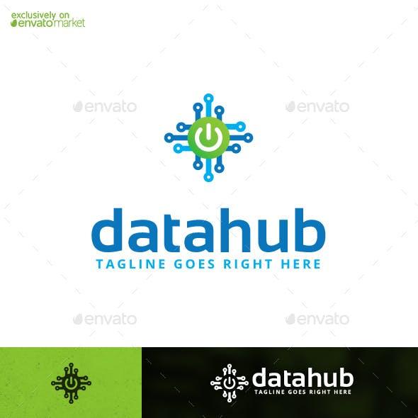 Datahub Digital Data Software Logo Template