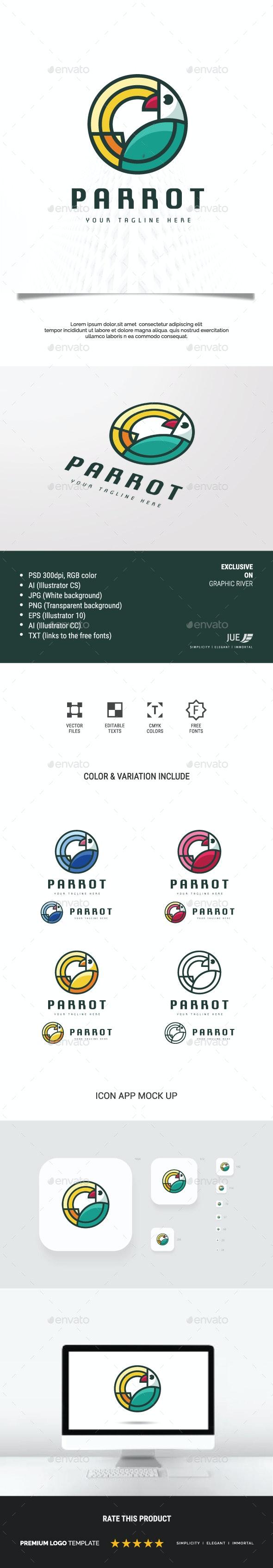 Bird Parrot Logo - Animals Logo Templates