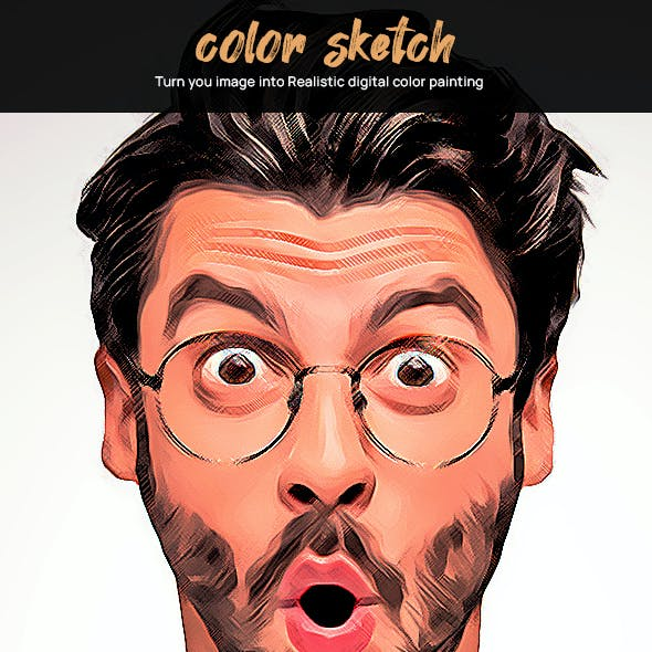 Color Sketch Painting Effect