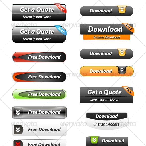 Download 33 Layered Web Buttons