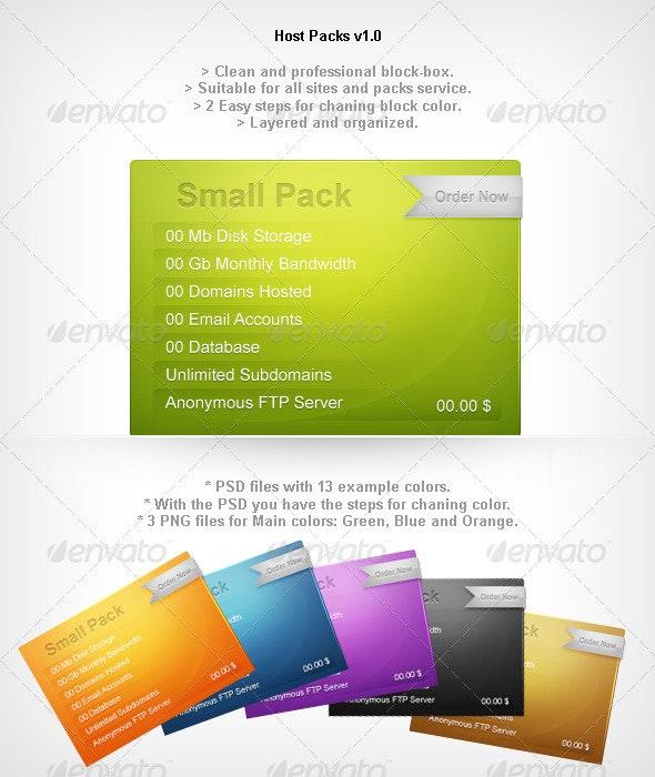 Host Packs - Miscellaneous Web Elements