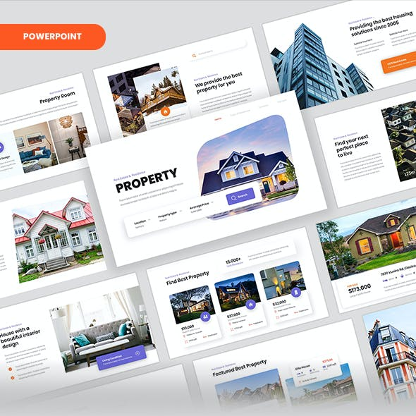 Property – Real Estate & Residence PowerPoint Template