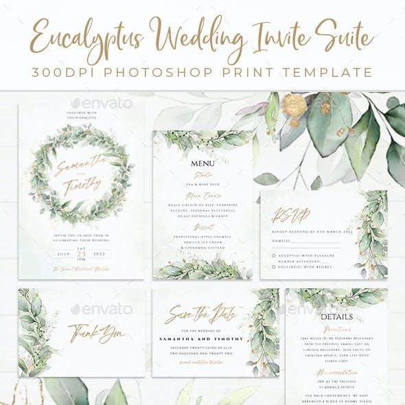 Eucalyptus Wedding Invite Suite