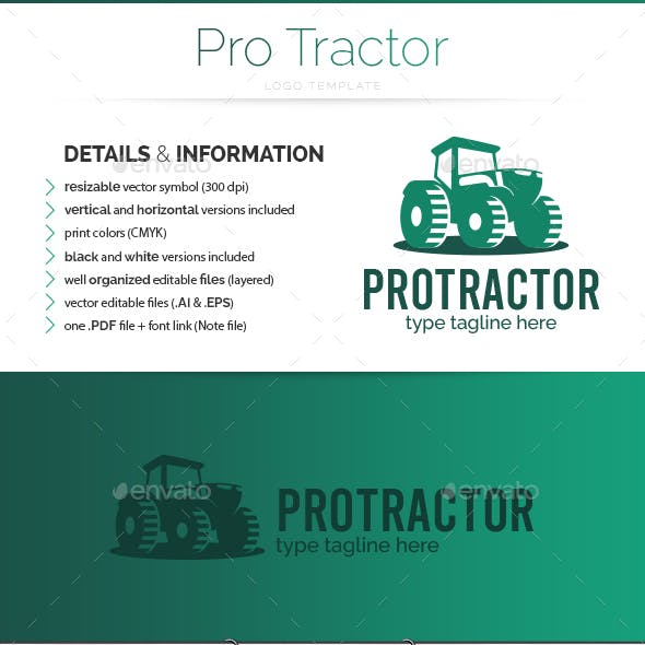 Pro Tractor - Logo Template