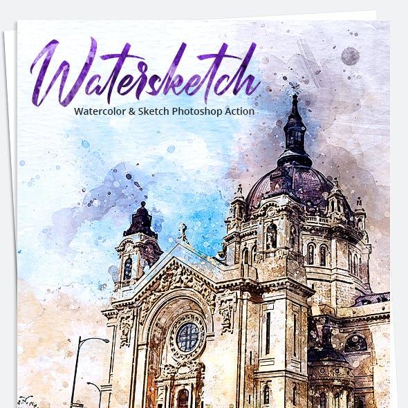 Watersketchr - Watercolor & Sketch Photoshop Action