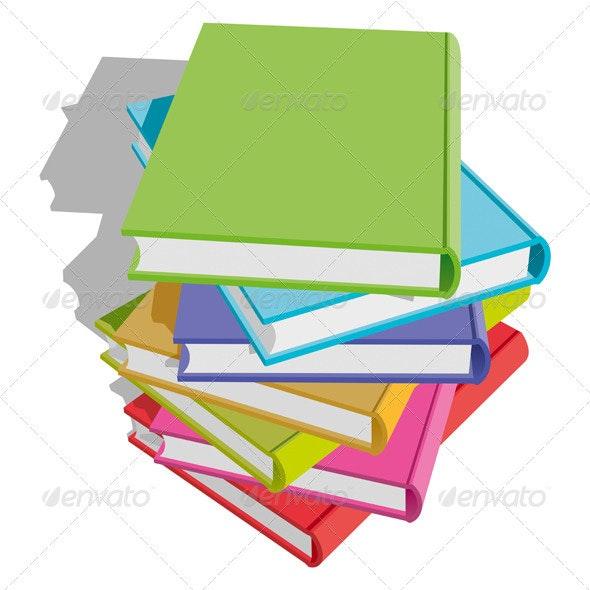 Books Stack  - Miscellaneous Vectors