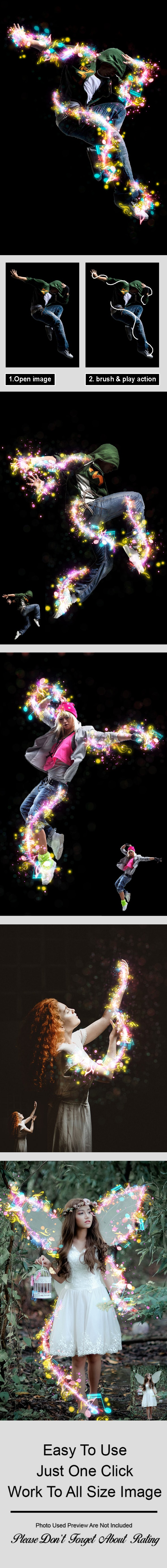 Magic Music Photoshop Action - Photo Effects Actions