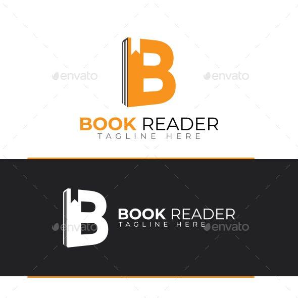 B Letter logo - Book Reader