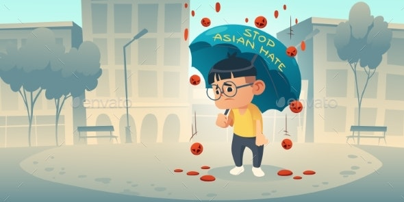 Stop Asian Hate Appeal Support Community of Asia - People Characters