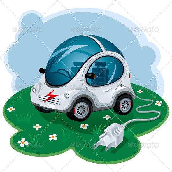 Electric Car - Technology Conceptual