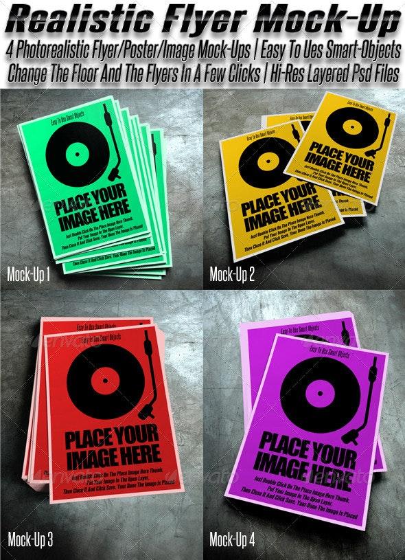 Mock Up For Flyer / Poster / Images - Flyers Print