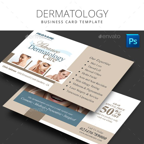 Dermatology Business Card