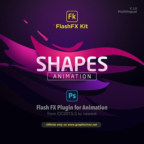 FlashFX Kit Shapes Animations for Photoshop - 2d Vfx Plugin