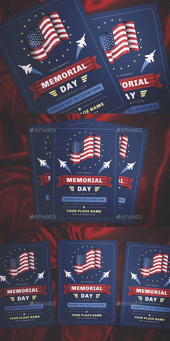 Memorial Day Flyer - Flyers Print Templates