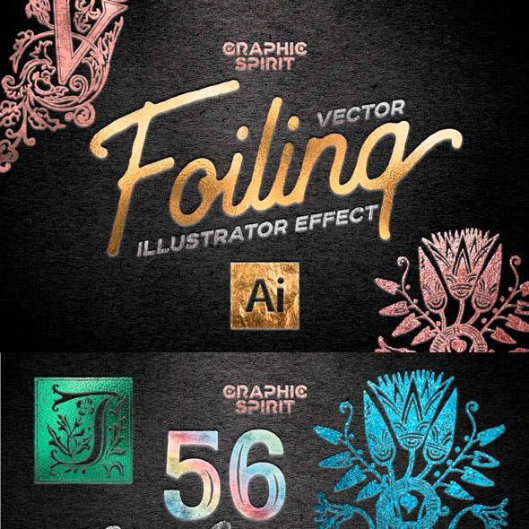 Vector Foil TOOLKIT For Adobe Illustrator