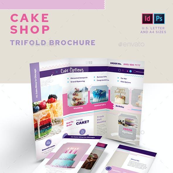 Cake Shop Trifold Brochure
