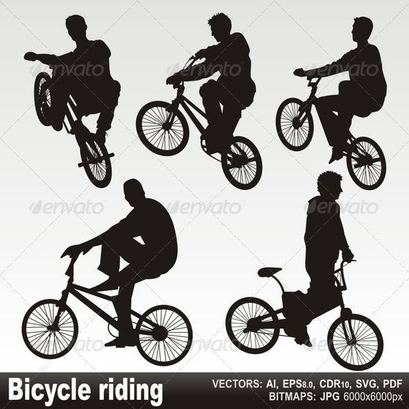 Bicycle riding - People Characters