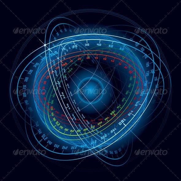 Fantasy Space Navigation Sphere - Technology Conceptual