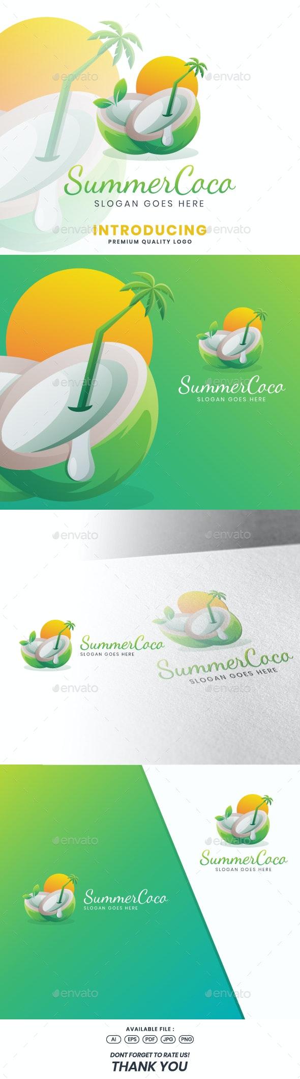 Summer Coco Logo Template - Food Logo Templates