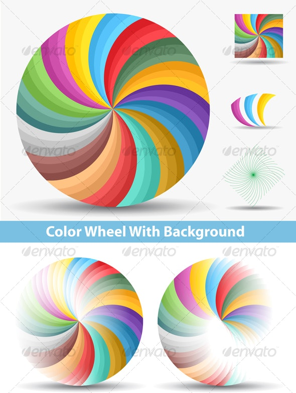 Color Wheel With Background - Man-made Objects Objects
