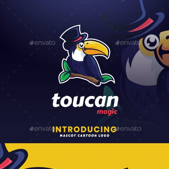 Toucan Magic Mascot Logo Template