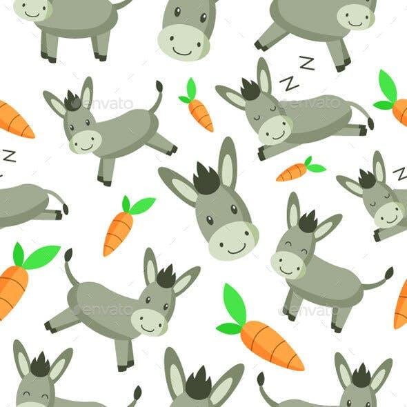 Donkey Seamless Pattern