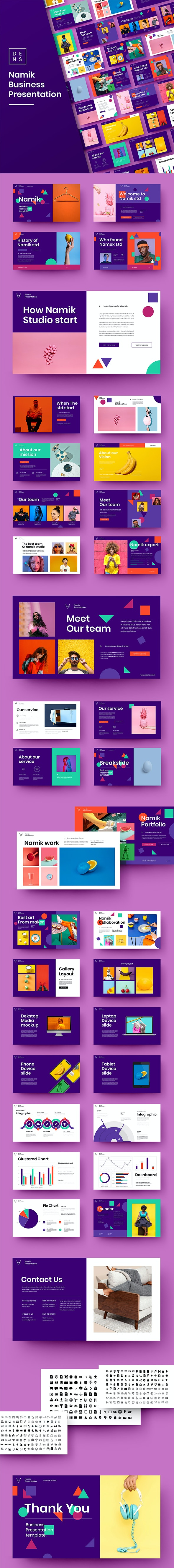 Namik – Business PowerPoint Template - Business PowerPoint Templates