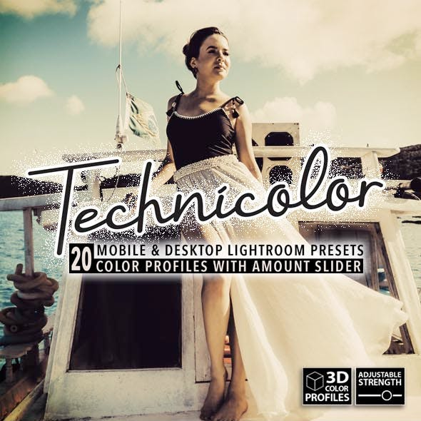 20 Technicolor Lightroom Presets, 3D Profiles