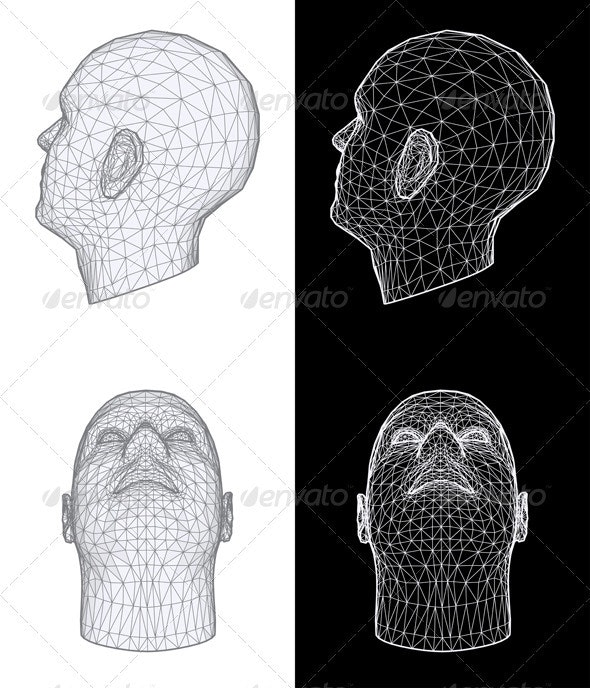 Human Head. Vector Illustration - People Characters