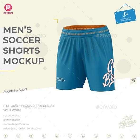 Men's Soccer Shorts Mockup V1